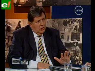Alan García quiere ser ministro del próximo gobierno