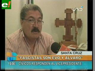 """Vaca Díez: """"Los fascistas son Evo y Álvaro"""""""