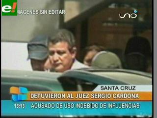 Sergio Cardona fue detenido por agentes de la FELCC