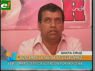 """MNR justifica su votación en la Asamblea: """"No somos traidores ni tránsfugas"""""""