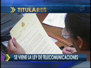 Se viene la ley de telecomunicaciones