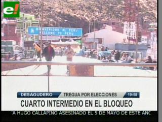 Bloqueo en frontera con Perú ingresa en cuarto intermedio