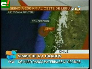 Susto en Chile por un sismo de 6,1 grados