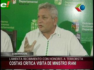 "Costas: ""Lamento que reciban con honores a un terrorista"""