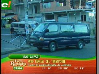 Choferes paran en La Paz
