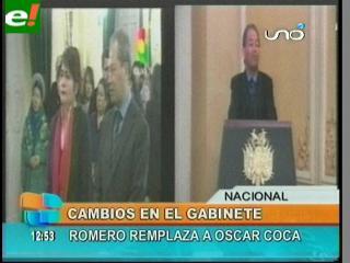 Evo sorprende y cambia dos ministros por renuncia de Oscar Coca
