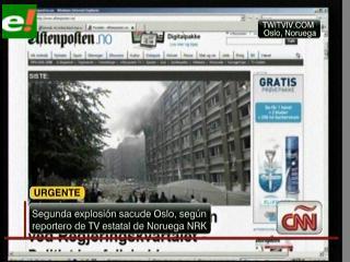 Varios muertos en un atentado ante la sede del Gobierno noruego