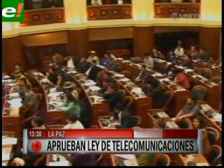 Diputados aprobaron en grande y en detalle la Ley de Telecomunicaciones