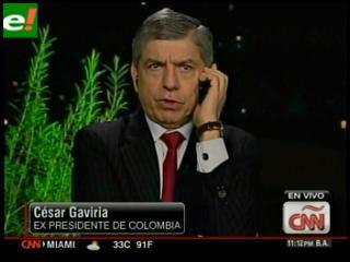 """César Gaviria: """"Hoy en día Colombia contribuye en la lucha antidroga"""""""