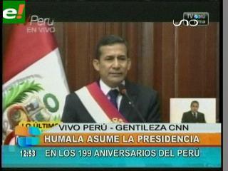 Ollanta Humala asume oficialmente la Presidencia de Perú