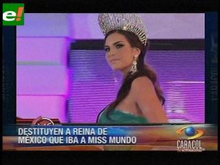 """Mexicana rechaza decisión de sacarla de Miss Mundo """"por gorda"""""""