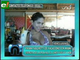 Vivian Fiaschetti de vacaciones en Miami