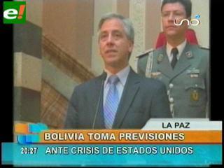 Crisis de EEUU afectará a Bolivia