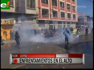 Enfrentamientos en El Alto por falta de obras