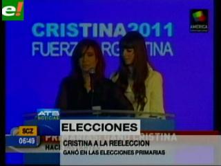 Cristina Fernández vence las inéditas elecciones primarias