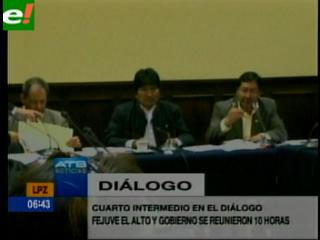 """Cita del Gobierno con """"alteños"""" entra en cuarto intermedio"""