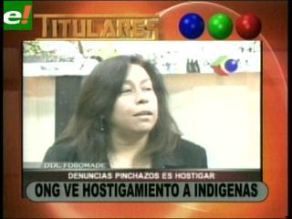ONG ve hostigamiento a indígenas
