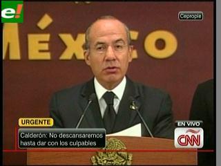 """Calderón: """"Tragedia en México es consecuencia del consumo de drogas de EEUU"""""""