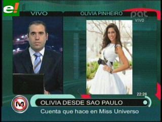 "Olivia Pinheiro: ""Es un orgullo llamarse Bolivia en un concurso universal"""