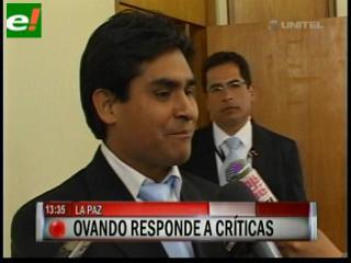 """Ovando pensó que iba ser """"halagado y no criticado"""" por promover las elecciones judiciales"""