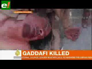 Muestran video de la muerte de Gadafi