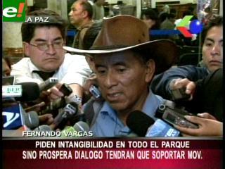 """Dirigencia del TIPNIS da ultimátum y pide """"intangibilidad"""" en todo el parque"""