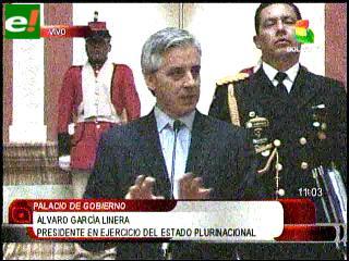 """García Linera: """"Hay intención política para que el país se estanque"""""""