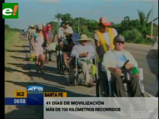 Discapacitados aseguran que llegarán a La Paz
