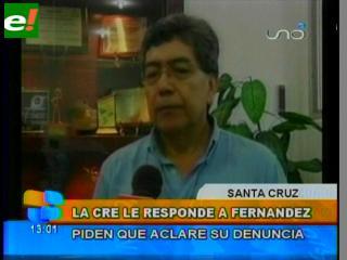 CRE pide explicaciones a Percy Fernández