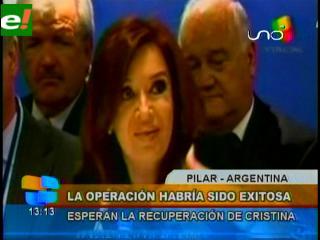 """Cristina Fernández se recupera de operación """"sin inconvenientes ni complicaciones"""""""