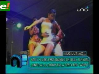 "El baile ""erótico"" de Maité Flores y Dj Chowuy"