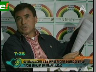 Reapareció Quintana para acusar a la ANP de recibir dinero de EEUU