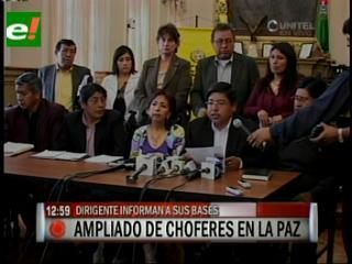 Choferes de La Paz declaran cuarto intermedio en medidas de presión