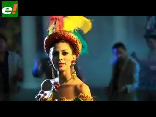 La Miss Bolivia 2010 Olivia Pinheiro en el nuevo videoclip de Llajtaymanta