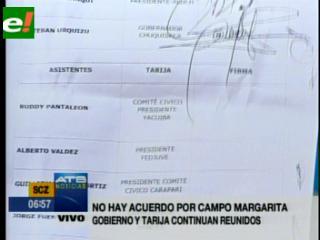 Diálogo por Margarita. Gobierno firma convenio con Chuquisaca, Tarija no se conforma