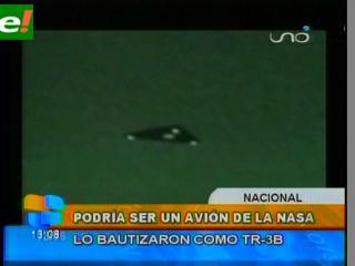 Supuesto OVNI en San Ignacio de Velasco sería avión secreto de EEUU