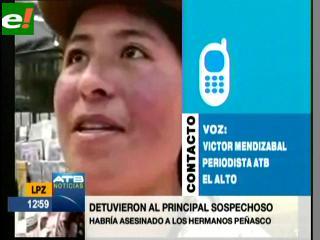 Aprehenden al primer sospechoso del asesinato de los periodistas Peñasco