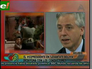 """García Linera mostró el """"otro Álvaro"""""""