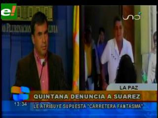 Quintana pide la intervención de la Fiscalía contra Suárez e indígenas por presunta corrupción
