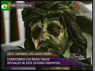 """Comprueban científicamente que """"El Cristo de San Pedro"""" llora sangre humana"""