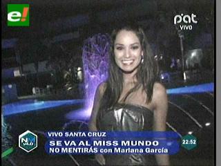 """Miss Mundo Mariana García se va a China, """"representaré a Bolivia de la mejor manera"""""""