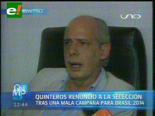 FBF oficializa la renuncia de Quinteros, en diez días se conocerá al nuevo DT