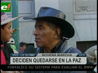 Novena marcha decide quedarse en La Paz hasta dialogar con el Gobierno