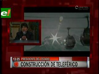 Evo reactiva proyecto del Teleférico La Paz-El Alto, envía proyecto a la ALP