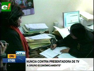 Alcaldía de Oruro demanda a Milena Fernández