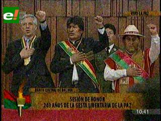 Autoridades celebran gesta libertaria de La Paz en solemne Sesión de Honor