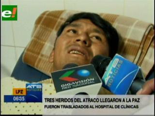 Atracan dos buses en la ruta La Paz-Apolo. Policía registra un muerto y ocho heridos