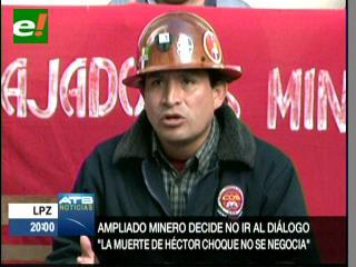 Mineros asalariados rechazan diálogo con el Gobierno y exigen renuncia de tres autoridades