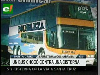 Ocho muertos y 35 heridos en ruta Santa Cruz-Cochabamba