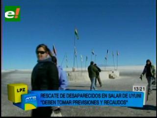 Encuentran vivos a jóvenes que se extraviaron en el Salar de Uyuni